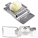 CROWNXZQ 2 Stainless Steel Egg Slicer, for Hard Boiled Eggs Dishwasher Safe Metal Cutter Slicer, Enloy with Wires Eggs, Kiwis and Soft Cheeses, Kitchen Tool