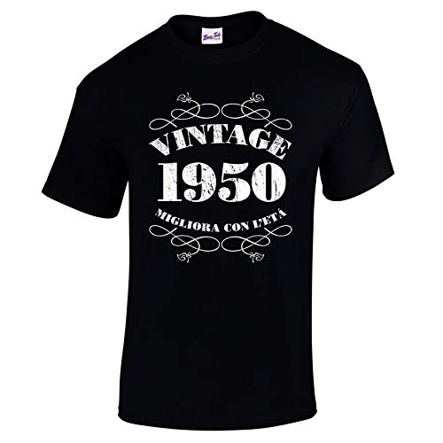 Bang Tidy Clothing T-Shirt da Uomo da 70esimo Compleanno Vintage 1950 – Maglietta Idea Regalo per i 70 Anni