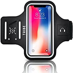 TRIBE Water Resistant Cell Phone Armband Case for iPhone