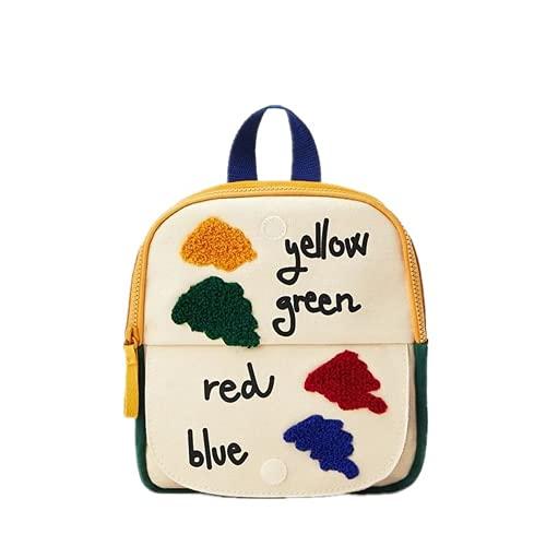 YIXIN Bolsa de escuela para niños y niñas divertido color pequeño mochila bolsa de hombro bolsa de los niños