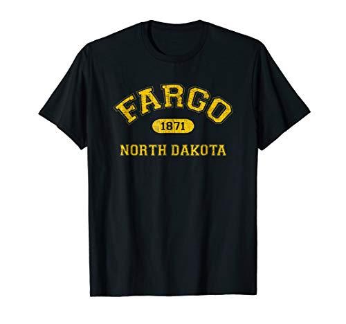 Retro College-Style Fargo, North Dakota 1871 T-Shirt