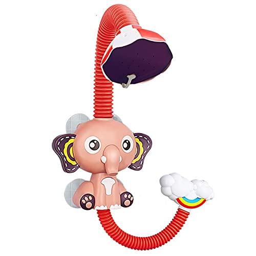OocciShopp Juguetes de Ducha, Elefante eléctrico, Juguetes de baño con espray de Agua para niños, baño, Grifo de bañera, Juguetes de Ducha, Ventosa Fuerte, Juego de Agua para niños