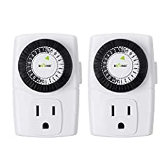 SIMPLE TO USE: Pins UP means timer is OFF. Pins DOWN means timer is ON. Please note that your timer's pins will come pressed DOWN new of the box. Pull the pins UP to begin setting your timer. AUTOMATE YOUR HOME OR OFFICE: Turn on and off lamps, small...