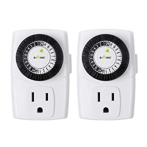 BN-LINK BND-60/U47 Indoor Mini 24-Hour Mechanical Outlet Timer