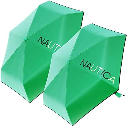 2 Pack Nautica Umbrella for Travel Auto Open Close Compact Lightweight Folding Best Windproof product image