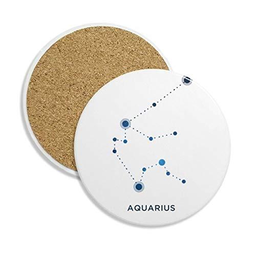 Wassermann Constellation Schild Sternzeichen Keramik Untersetzer Tasse Halter saugfähig Stein für Getränke 2Geschenk