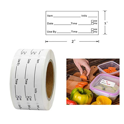 Hcode - Etiquetas adhesivas para congelador, 3 cm, 300 pegatinas ...