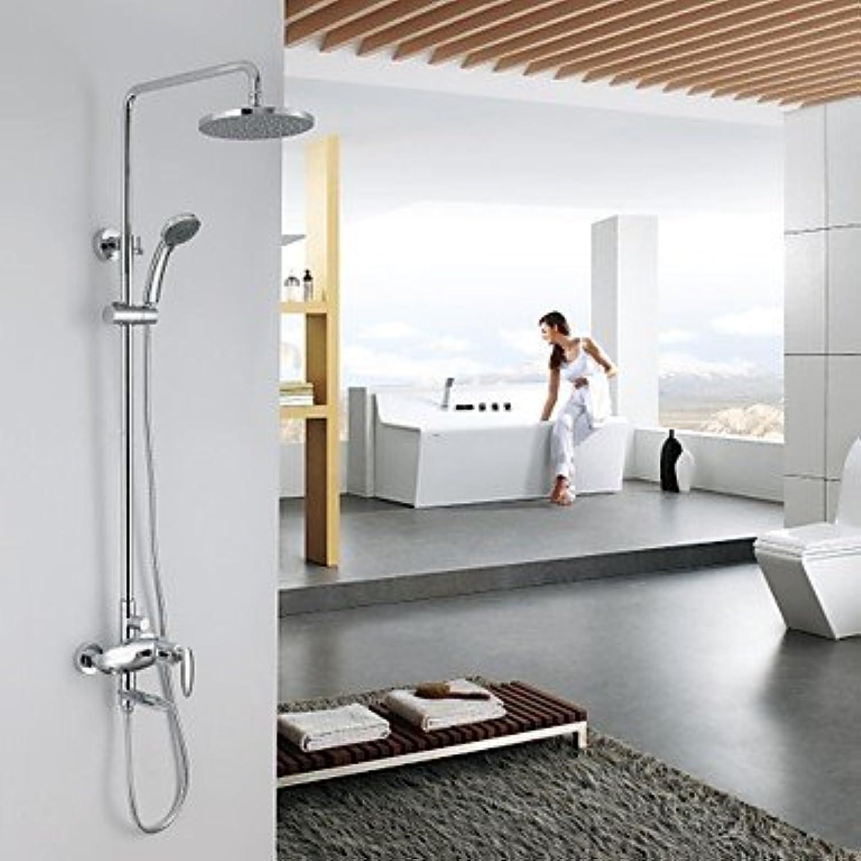 Miaoge Zeitgenssische Badewanne Dusche Wasserhahn mit 20,3cm Dusche Kopf und Handbrause