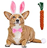 Dog Bunny Ears and Easter Puppy Toy Kit,Doggie Easter Costume