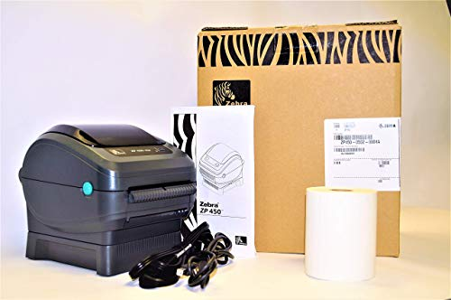 Zebra ZP450-0502-0004A CTP High Speed Direct Thermal Label Printer, Supports UPS Worldship, FedEx, Stamps, Shipworks, Shiprush and Many More (Renewed)