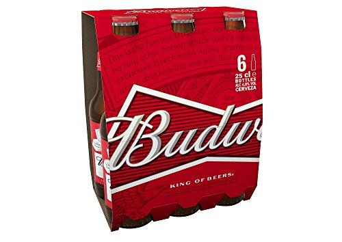 Budweiser Cerveza, 6 x 25cl