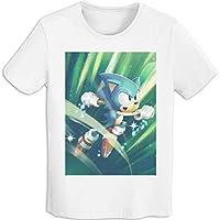 プリント 半袖シャツ メンズ T-Shirt ソニック・ザ・ヘッジホッグ Tシャツ White Xl