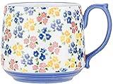 SugazoonEUR Tazza da caffè in ceramica con fiori fatti a mano e latte, idea regalo per donne, mogli, mamme, insegnanti, amici, compleanni, San Valentino