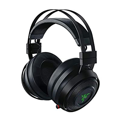 Razer Nari Ultimate Gaming Headset With THX Spatial Audio, Cooling Gel-infused Cushions, 2.4 GHz Wireless Audio, Mic with Game/Chat Balance - Black