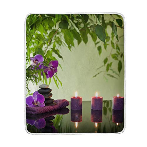 CPYang Überwurf-Decke aus japanischem Zen aus Bambus, weich, Mikrofaser, Geschenk, Reisebett, Sofa, 127 x 152 cm, für Kinder, Jungen, Mädchen, Damen und Herren