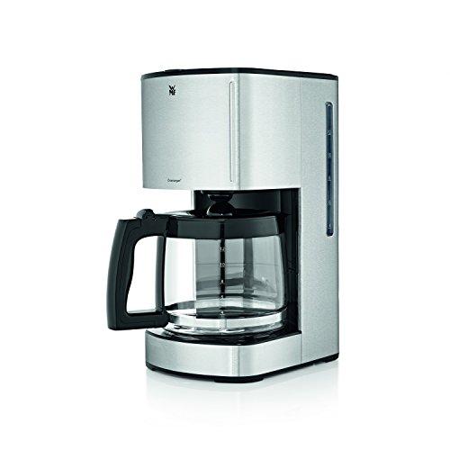 WMF Skyline Filterkaffeemaschine mit Glaskanne, 12 Tassen, Kaffeemaschine, Edelstahl matt, schwarz