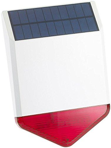 VisorTech Zubehör zu Aussensirene: Autarke Solar-Funk-Alarmanlage mit Sirene und Licht-Warnsignal, 110 dB (GSM Funk Alarmanlagen)
