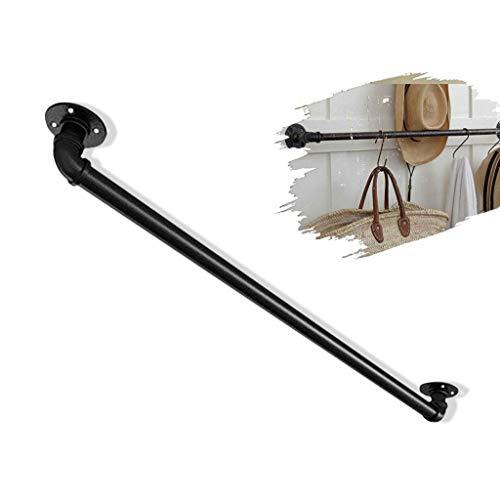 LTFS Barandillas de Escalera multifunción: se utilizan como manijas de Puerta/barandilla/Barras de sujeción/Perchero - diseño de tubería de Hierro a Prueba de Herrumbre para Interiores y Exteriores