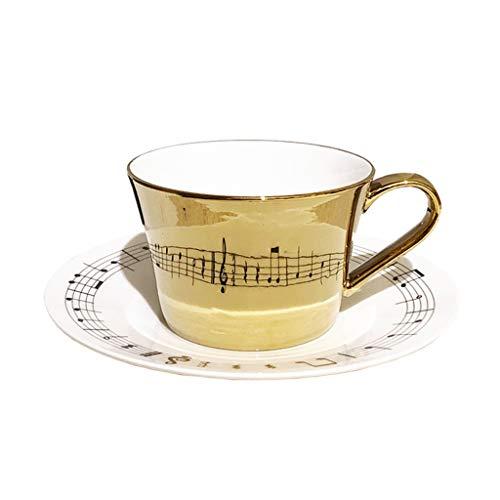 Koffiefilters De Mok van de Kop van de Koffie Kop van de Thee keramische mok koffie Mok van de Verjaardag Creative Design Coffee Cup Bone China Coffee Cup met muzikale noot Notation Verjaardagscadeau