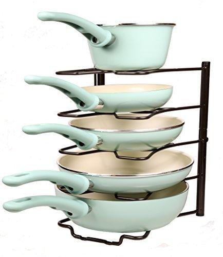 ACE HOME Kitchen Storage Solutions Cabinet Pan Rack Organizer - Bronze