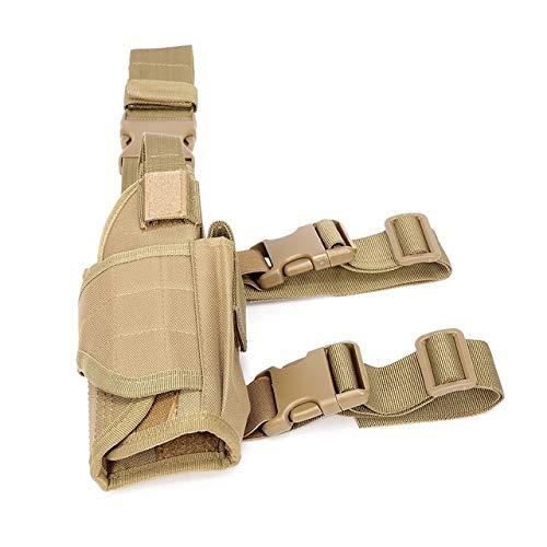 Lixia-Gun, Táctica Derecho Pierna de la Gota Pistolera Universal for la Pistola de Airsoft Pistola Militar Bolsa Tobillo Titular Oculto Arma de la Caja de Caza (Color : Tan)