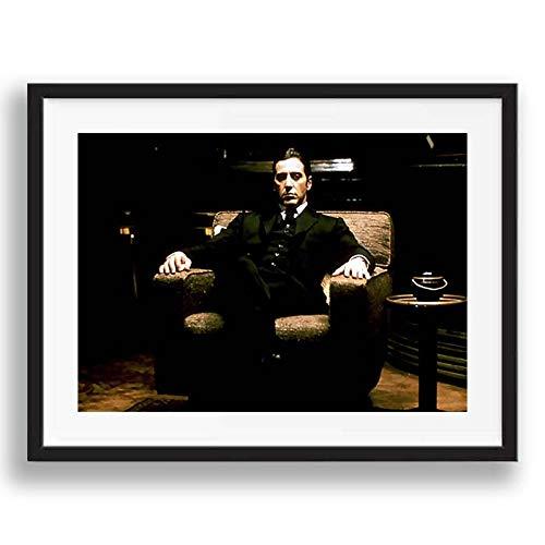 Box Prints El Padrino Al Pacino Retro Vintage película todavía póster Enmarcado impresión de la Pared