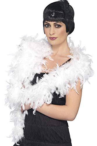 Smiffys Boa Deluxe, blanc, à plumes, 180cm, 80g