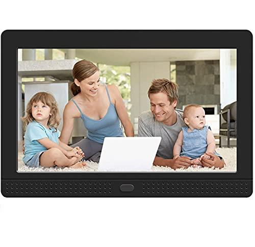 MELCAM Cornice Digitale 7 Polloco, FHD IPS Schermo 1280 * 800, Cornici Foto Digitali Foto/Musica/Video, con Telecomando, Nero
