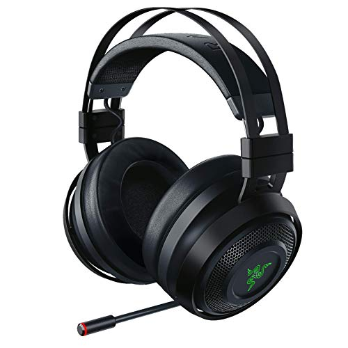 Razer Nari Ultimate Wireless 7.1 Surround Sound Gaming Headset: THX Audio & Haptic Feedback - Auto-Adjust Headband - Chroma RGB - Retractable Mic - For PC, PS4, PS5 - Black