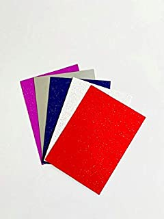 House of Card & Paper Asstd Glitter Card A3 240gsm (Pack of 10 sheets)