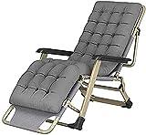 Fly YUTING Silla de salón reclinable sillas Plegables al Aire Libre cómodo y Suave Plegable tumbonas reclinable Descanso Descanso reclinable portátil Adulto Playa balcón jardín Dormitorio