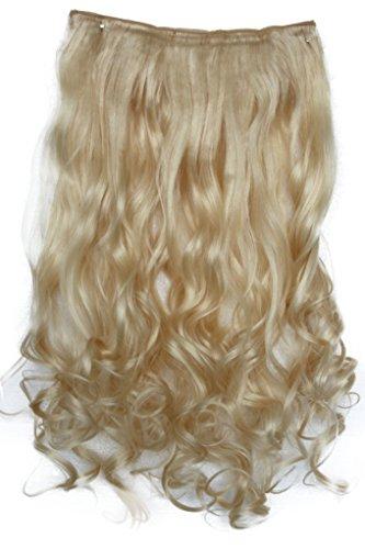 PRETTYSHOP 60 cm clip in extensions hair extensions semi pruik haarverdikking gegolfd hittebestendig