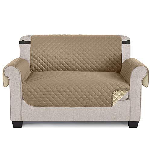 TAOCOCO Funda para sofá ,Funda Protectora para sofá para Mascotas Funda Deslizante, Almohadilla de protección contra Desgaste y Grietas-Beige, 2 Plaza