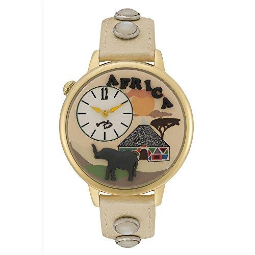Orologio Braccialini Donna Cartoline Africa Quadrante 3D Sabbia Brown TUA 120/1WW