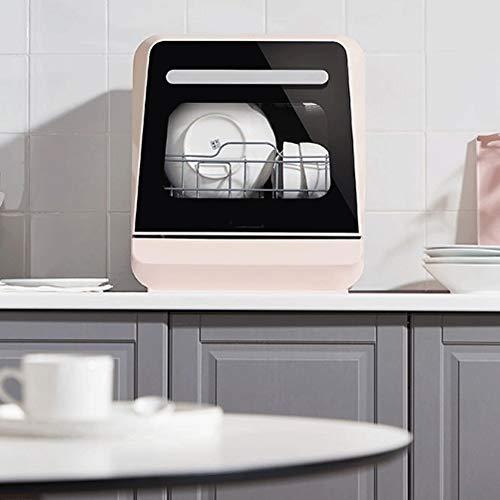 ZXCVB Automática de Hogares de escritorio pequeño libre de la instalación electrodomésticos inteligentes Pequeño Independiente Lavavajillas cepillo lavable a máquina frutas y verduras, de gran capacid