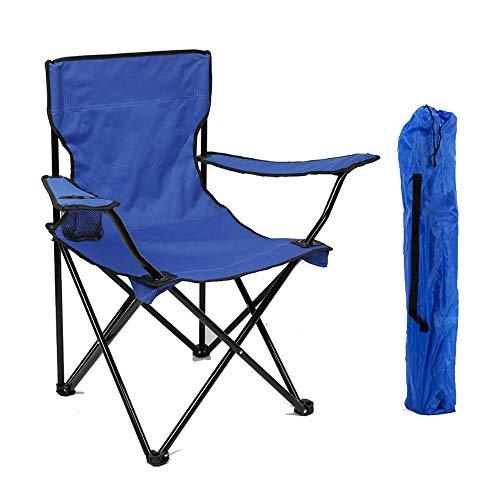 WWVAVA - Silla ligera con respaldo para playa, plegable, reposabrazos, silla para camping, sillas portátiles para picnic y pesca