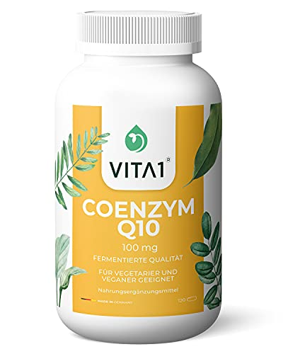 VITA1 Coenzym Q10 mit 100 mg laborgeprüft, frei von Rückständen, Farb- und Aromastoffen sowie Magnesiumstearat OHNE Konservierungsstoffe 100% natürliches Coenzym Q10