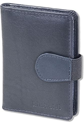 Rimbaldi Rimbaldi® - Kreditkartenetui mit 20 Kartenfächern und RFID/NFC Ausleseschutz aus weichem Rind-Nappaleder in Dunkelblau