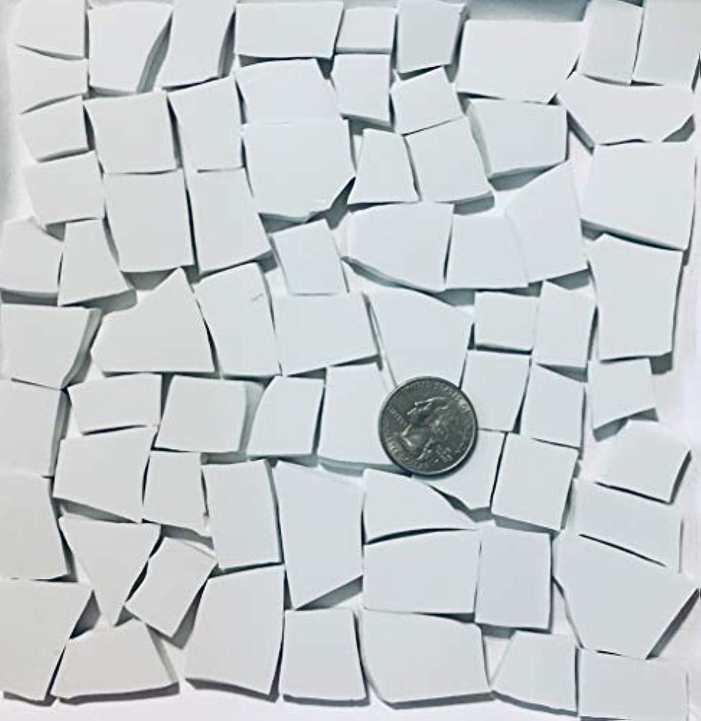 Mosaic Art & Crafts Supply ~ All White Fine China Tiles (B659)