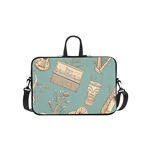 Laptop Umhängetasche Umhängetasche Tasche Notebook Griff Ärmel Neopren Soft Carring Tablet Reisetasche, Muster Gitarre Harfe Saxophon Klavier Laptop Handtaschen 14