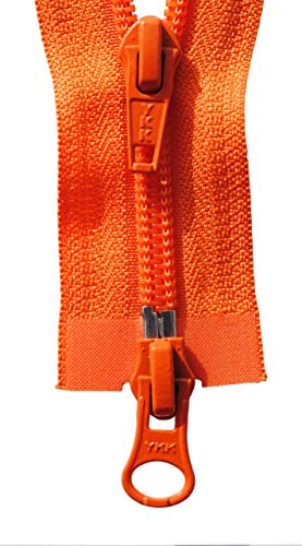 YKK Reißverschluss 2 Weg teilbar orange 85 cm Kunststoff spirale Kunststoffspiralkette