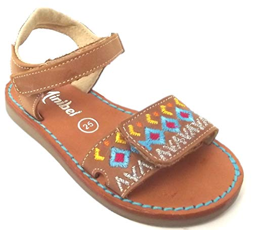 Minibel - Chaussures Noel - Sandales - Nu Pieds - MODELE PORQUEROL Brun - Taille 27 EU