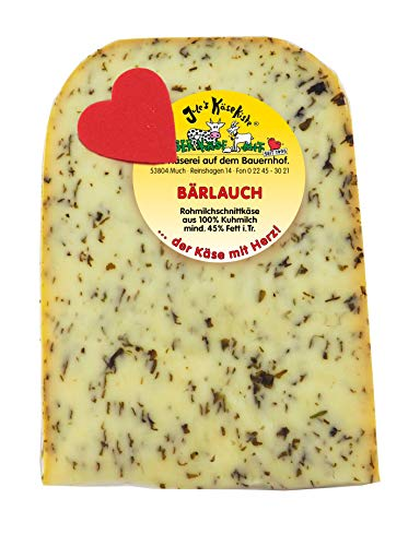 Bärlauch Käse | Jule's Käsekiste | Rohmilchkäse | Glutenfrei | Von Natur aus Laktosefrei (160 GR)