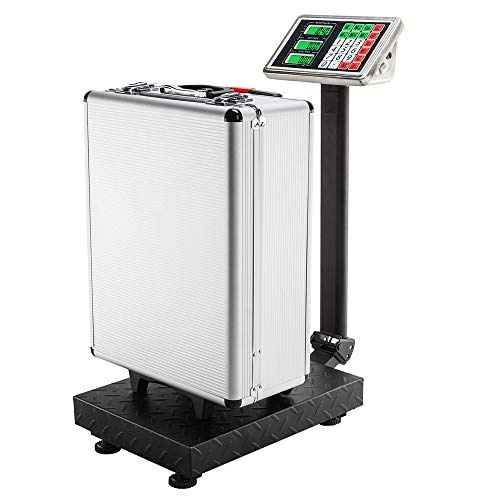 Henf 50KG 110lb Digital Electric Heavy Duty Large Capacity Weighing Platform Scale for Postal Industrial Commercial Shop…
