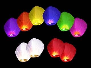 Alittle Lanterne c/éleste 10 PEZZI Lanterne Lanterne Cinese cinesi Volanti MONGOLFIERA COLORATE Matrimonio Party Feste