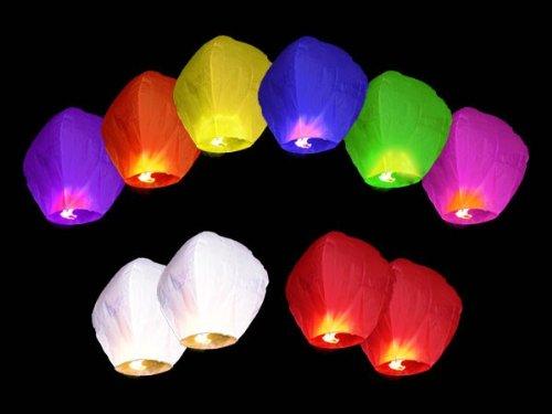Area Lot de 50 lanternes chinoises volantes