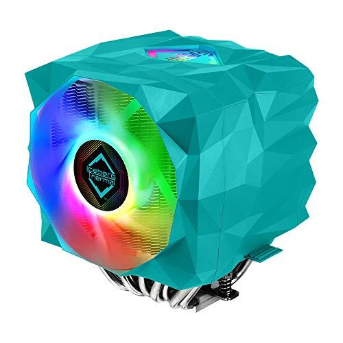 Iceberg Thermal IceSLEET X9 Dual AMD sTRX4 TR4 SP3 Ryzen Threadripper High Performance CPU Cooler 9 Heat Pipe Twin Tower Nickel Plating Addressable RGB ARGB 120mm 140mm PWM Fan Set Max TDP 280W
