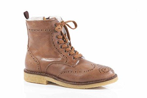 Zecchino Dóro Boots Schnürr Stiefel Stiefelette F06-3611 congac (36)