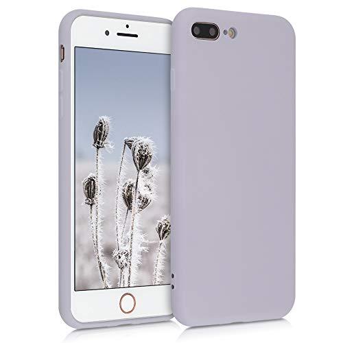 kwmobile Cover Compatibile con Apple iPhone 7 Plus / 8 Plus - Custodia in Silicone Effetto Gommato - Back Case Protezione Cellulare - Zucchero Filato