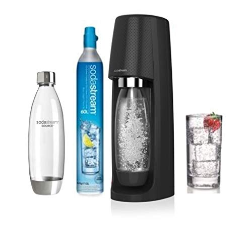 Sodastream Pack SPIRITNFUSE - Machine à Eau Pétillante + 2 Bouteilles, Plastique PET , Noire, 19,5...